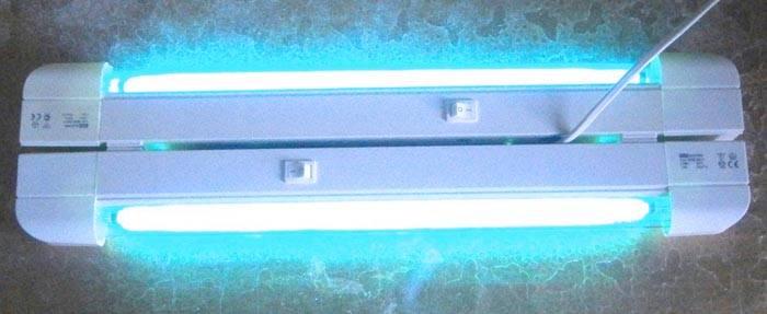 Использование ультрафиолетовых источников освещения настенного типа