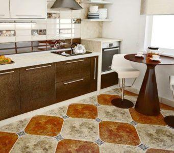 Плитка на пол для коридора и кухни, фото