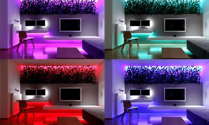 Светодиодное освещение может быть с различным цветовым свечением