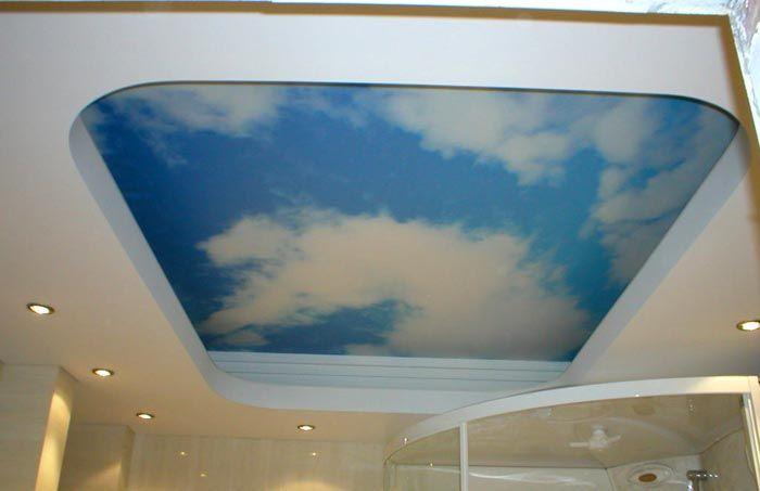 Для отделки потолка в ванной выбираем ГВЛ