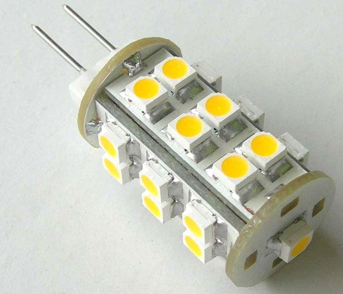 SMD LED монтируют на медную или алюминиевую подложку