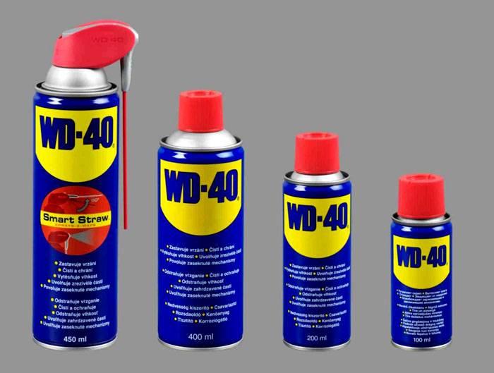 WD-40 – довольно неплохая смазка, но силиконовая все же лучше