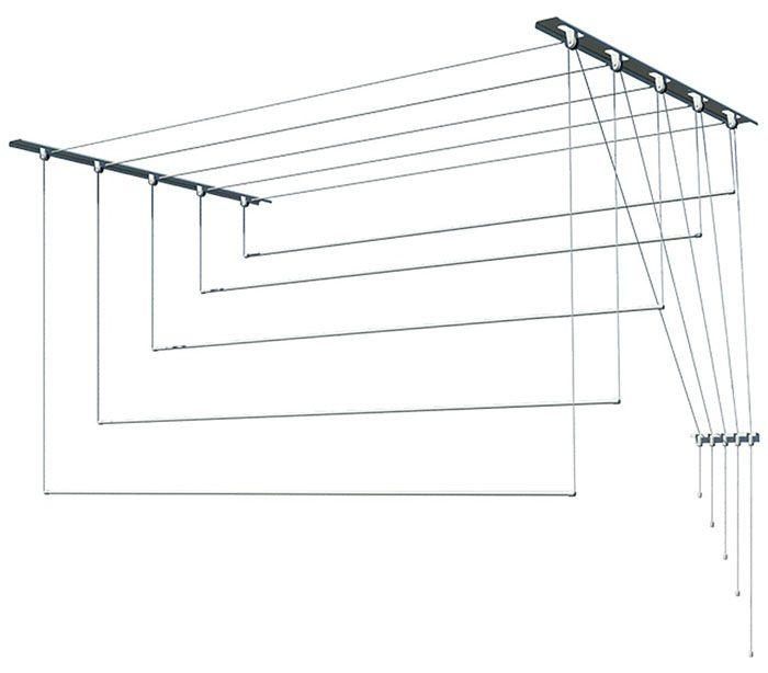 Самая известная в линейке потолочных сушилок для белья на балконе – Лиана 2м Л20