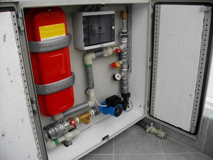 Так аккуратно можно разместить все необходимое оборудование для системы отопления