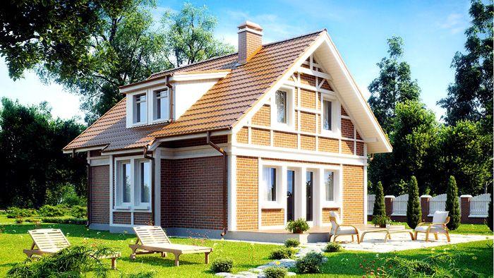 Презентабельный внешний вид – основное преимущество дома в два уровня