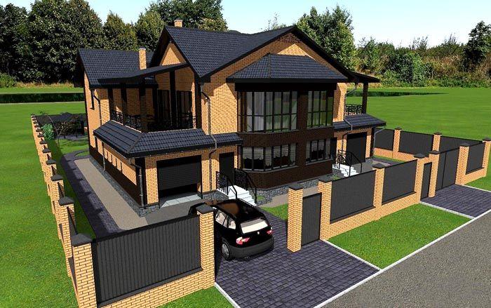 Двухэтажная постройка – оптимальное решение для небольшого участка