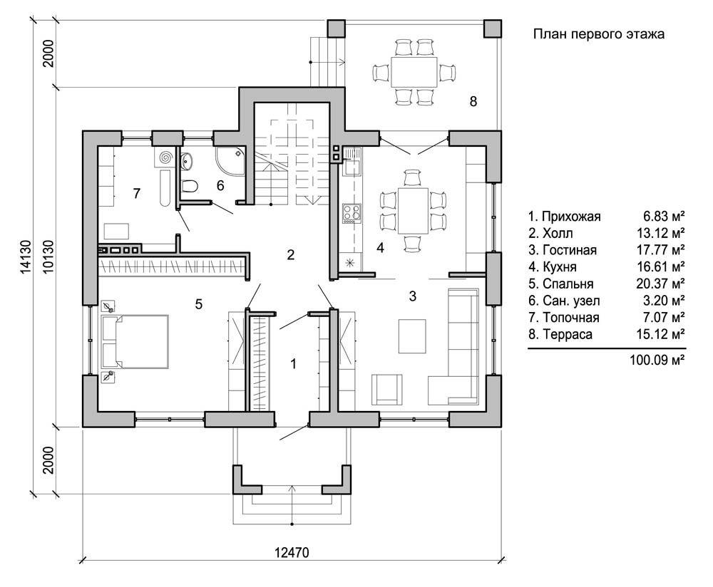 Если площадь позволяет, количество комнат можно увеличить