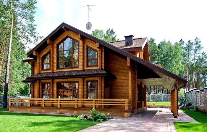 Деревянные строения имеют презентабельный внешний вид