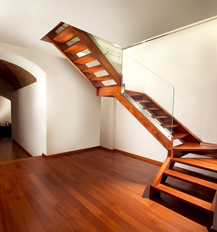 Конструкция из древесины на тетивах