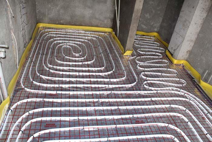 Возможна и комбинированная раскладка трубопровода