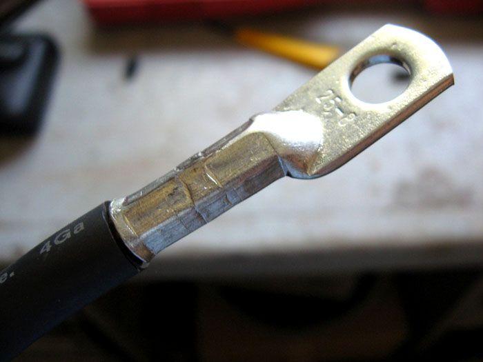 Обжим силового кабеля