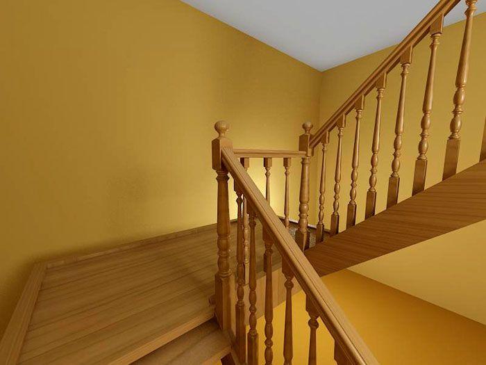 Поворотная двухмаршевая лестница