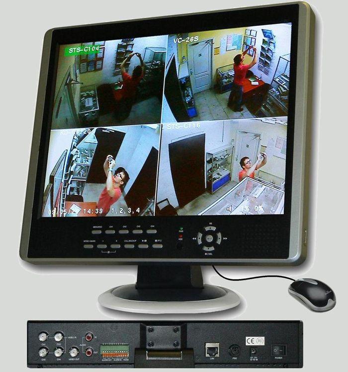 Изображение с нескольких камер можно вывести на крупный экран специализированного, или универсального компьютерного монитора