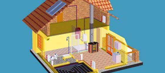 Водяное отопление частного дома своими руками схемы