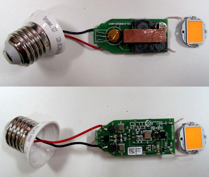 Драйвера ставят даже в энергосберегающих лампах с цоколем, правда он хорошо замаскирован