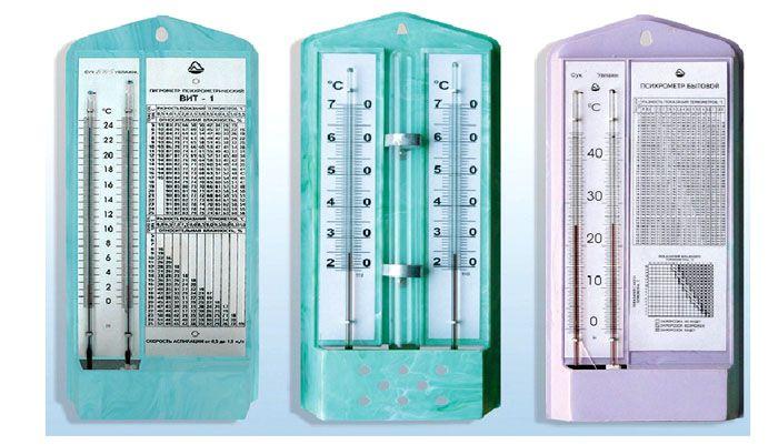 Данные психрометра измеряются при помощи таблиц