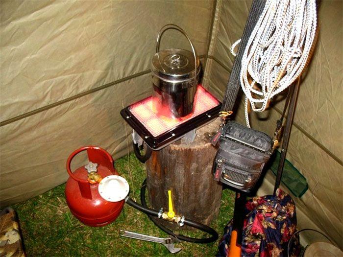 Газовый обогреватель для палатки