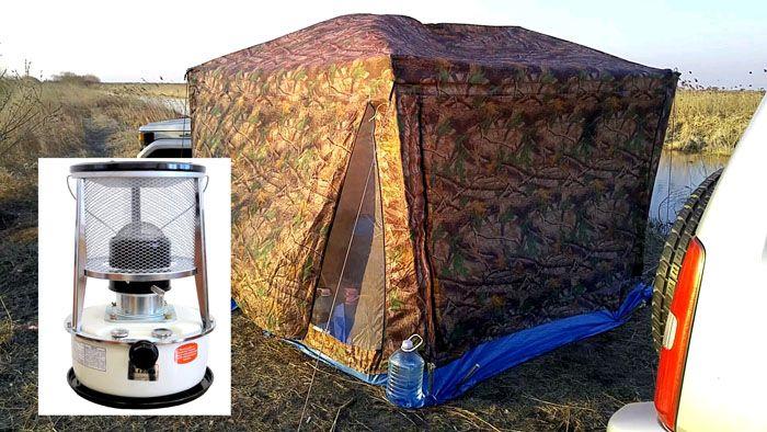 Во время работы устройства палатка должна проветриваться