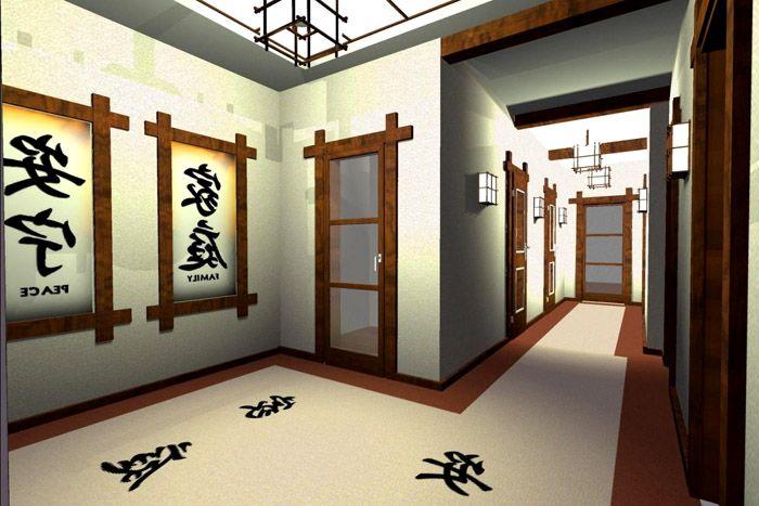 Пример оформления интерьера в японском стиле