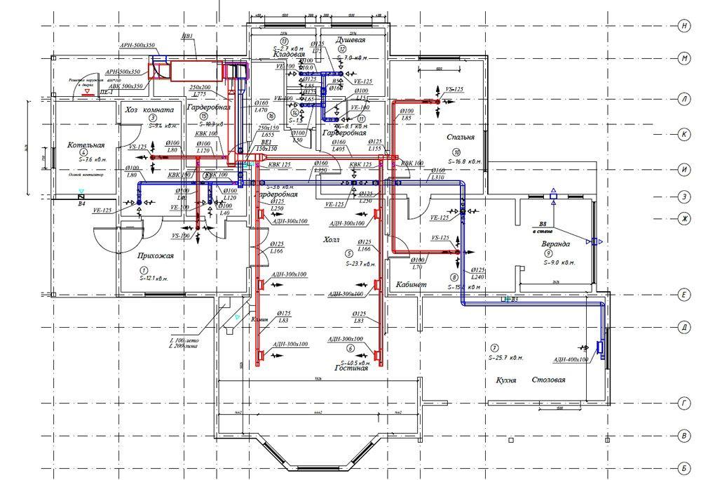 На этом чертеже приведены размеры. Подробная документация упрощает выбор комплектующих элементов проекта и выполнение монтажных работ