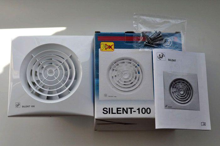 Недорогой современный вентилятор для вытяжки S&PSilent-100 CZ