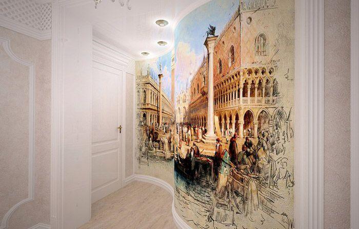 Фреска станет настоящим украшением небольшого пространства