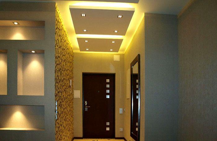 Многоуровневый потолок с подсветкой – модная деталь интерьера