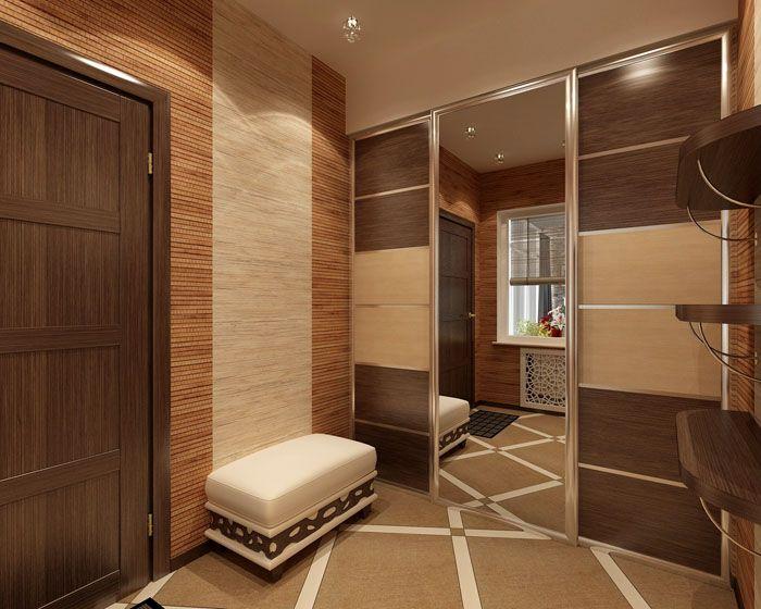 Купе – универсальный вариант. Подвижные дверцы скроют все содержимое шкафа, оставляя на виду только идеально ровную поверхность с зеркальным или другим покрытием