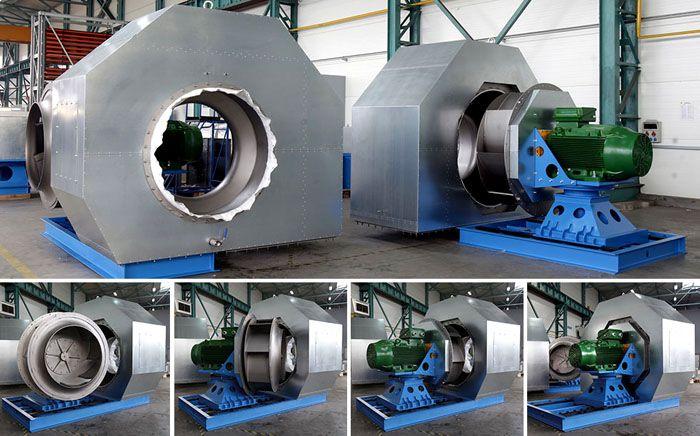 Взрывобезопасные вентиляторы для вытяжки промышленные создают для деревообрабатывающих, химических и других производств