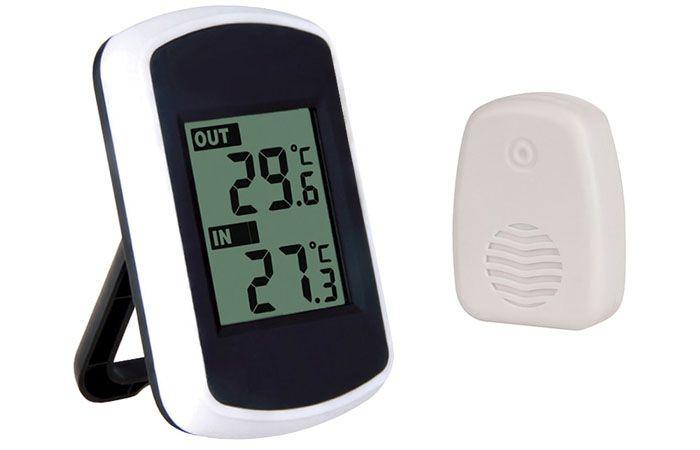 Современный беспроводной термометр с внешним датчиком наружной температуры
