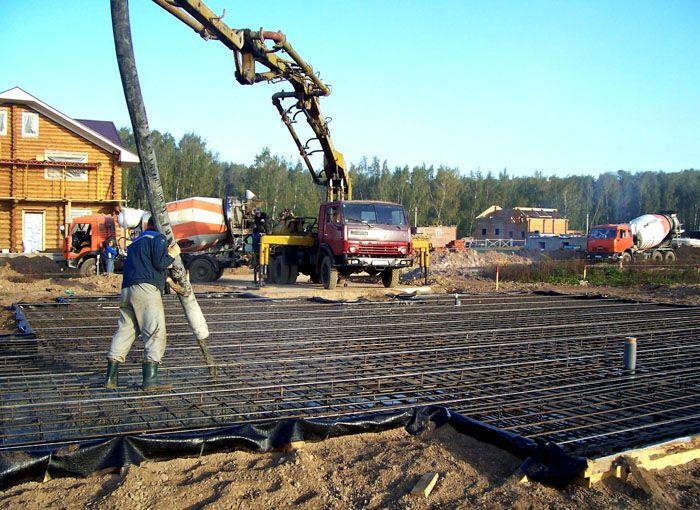Марка используемого бетона определяется проектной документацией