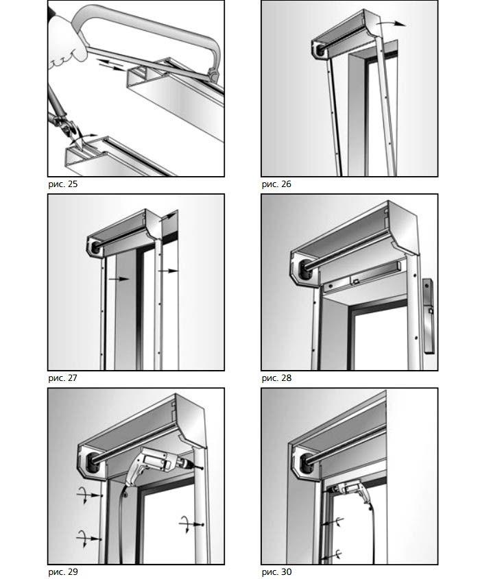 Схема установки каркаса