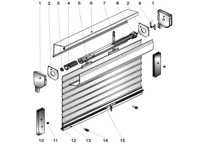 Схема соединения полотна с приводным валом