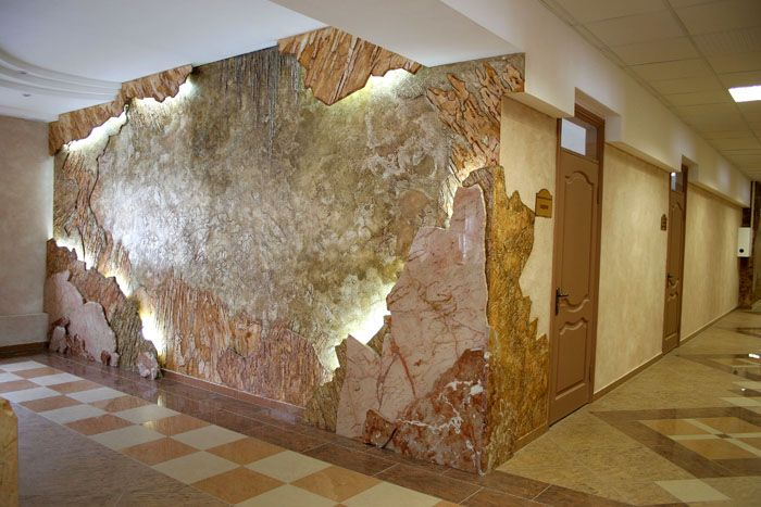 Декоративная отделка с имитацией камня