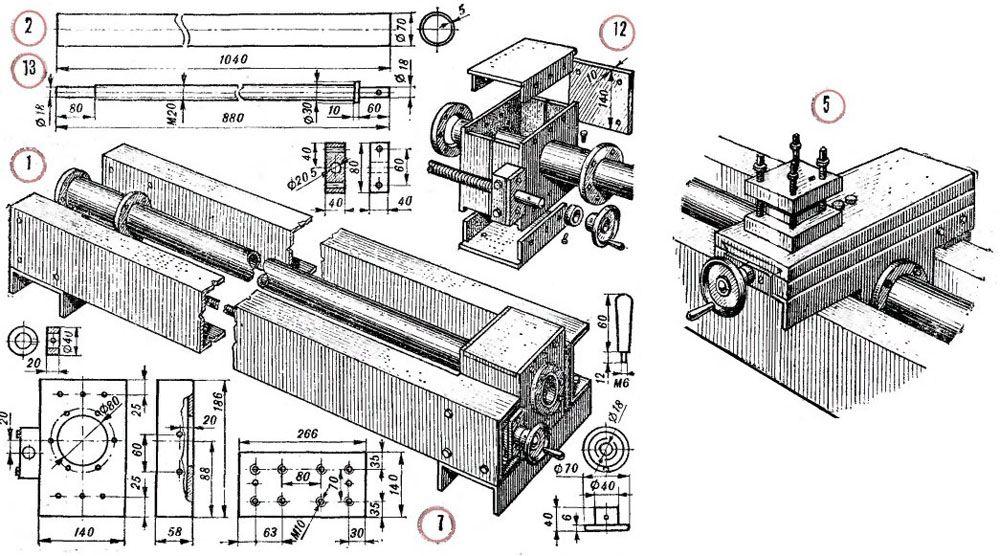 Механизм перемещения и суппорт