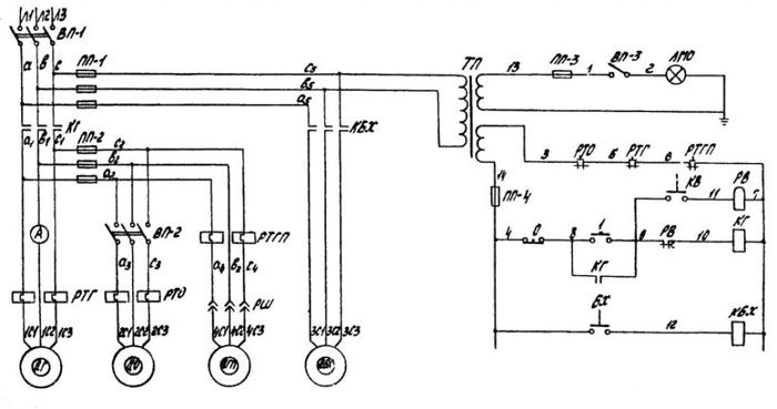 Электрическая схема токарного станка по металлу