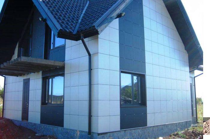 Вентилируемые фасады имеют разнообразную по фактуре поверхность
