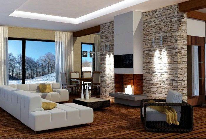 С помощью объемного изображения можно уточнить детали интерьера проекта дома 100 квадратов