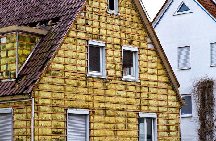 Единственная поверхность, которую можно теплоизолировать снаружи, – фронтон крыши
