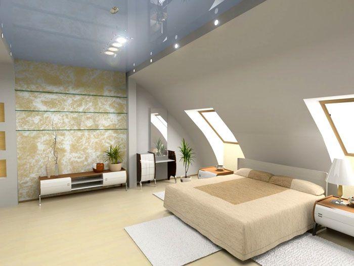 Глянцевый натяжной потолок и ретрообои создают изящную гармонию