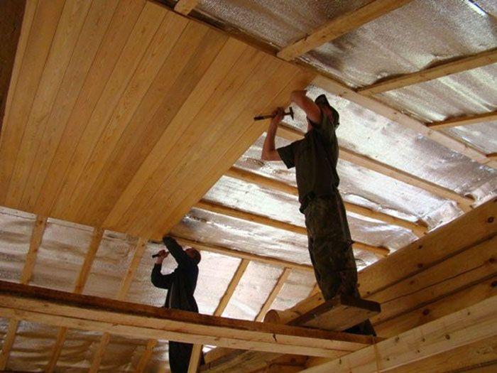 Вариант крепления отделки на деревянный каркас