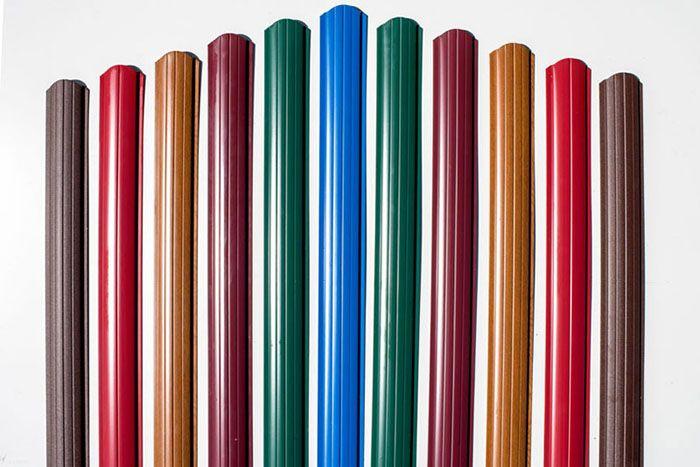 Цветовая гамма будущего ограждения разнообразна