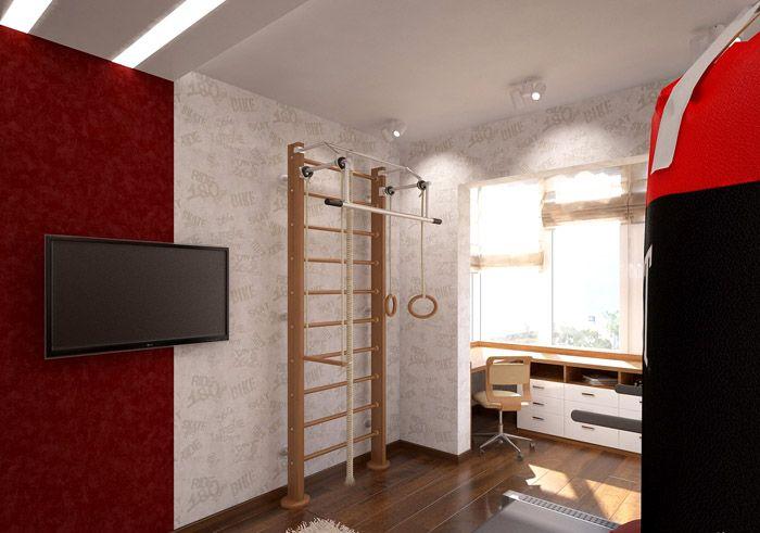 Весь комплект занимает мало места и может быть установлен в небольшой комнате или даже в коридоре