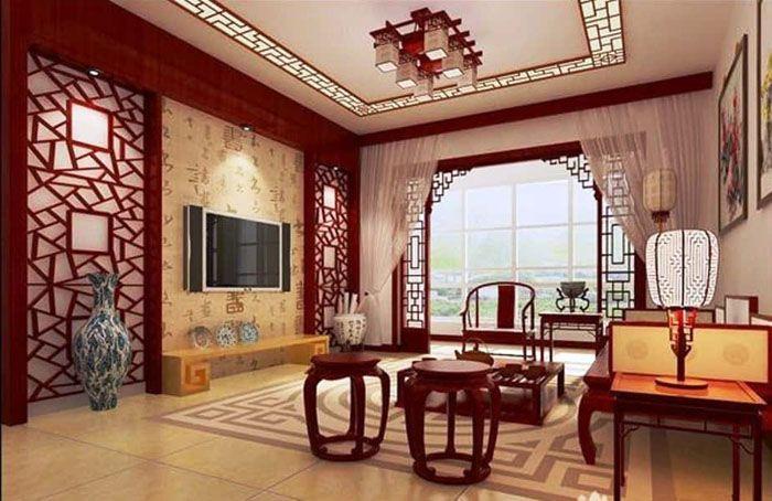 Комната в квартире, оформленная в китайском стиле