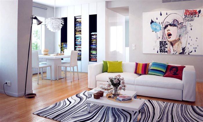 Вот так выглядит квартира, оформленная в стиле поп-арт
