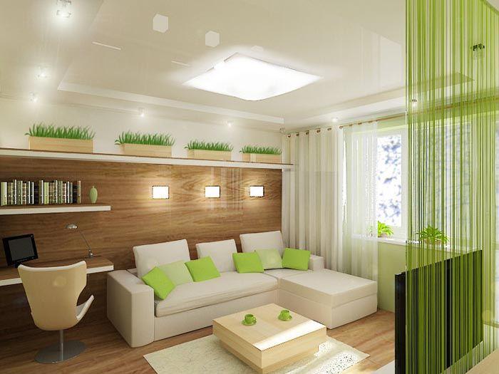 Эко-стиль в гостиной квартиры
