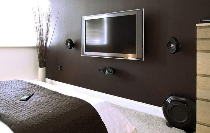 Неподвижная установка телеэкрана к стене без специального крепления