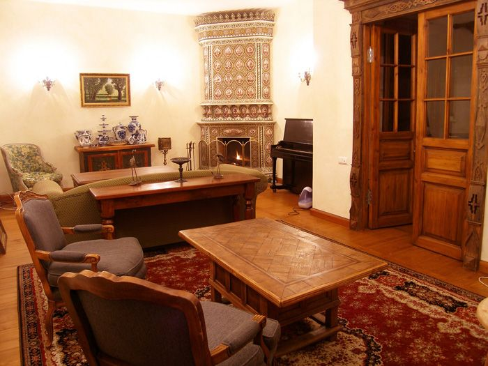 Русский стиль при оформлении квартиры