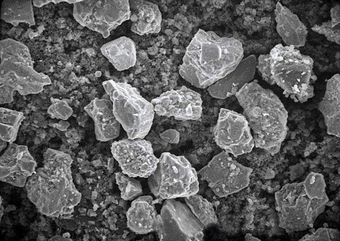 Пирит под электронным микроскопом