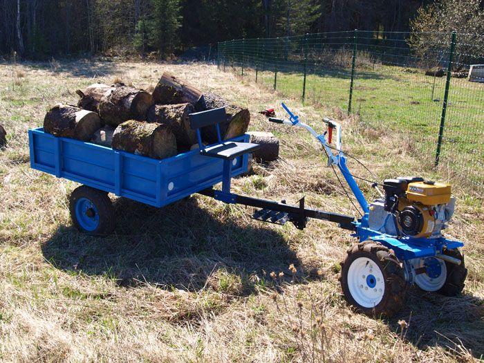 Профессиональные мощные агрегаты могу вытянуть тележку весом до 1 тонны